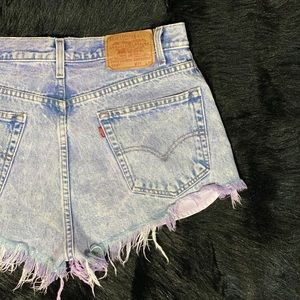 Levis high waisted shorts size 14 cheeky acid wash